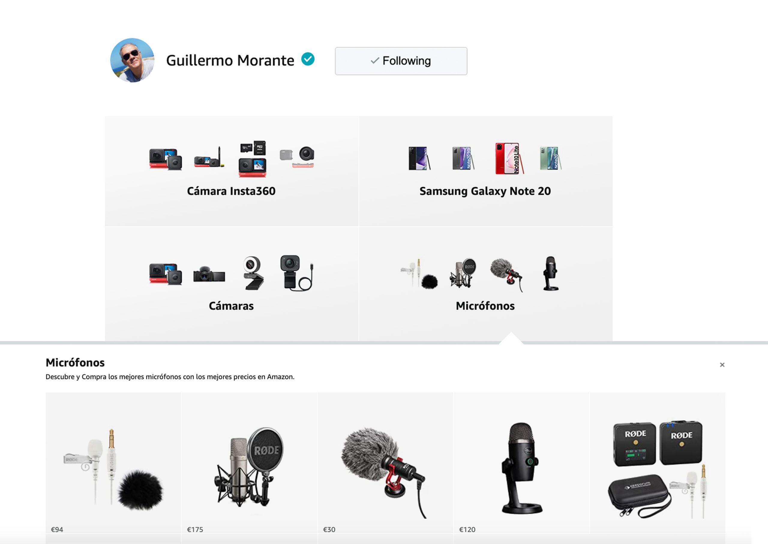Guillermo Morante Tienda de Amazon Influencer