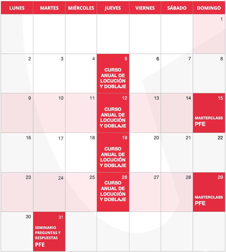 Calendario Junio Guillermo Morante