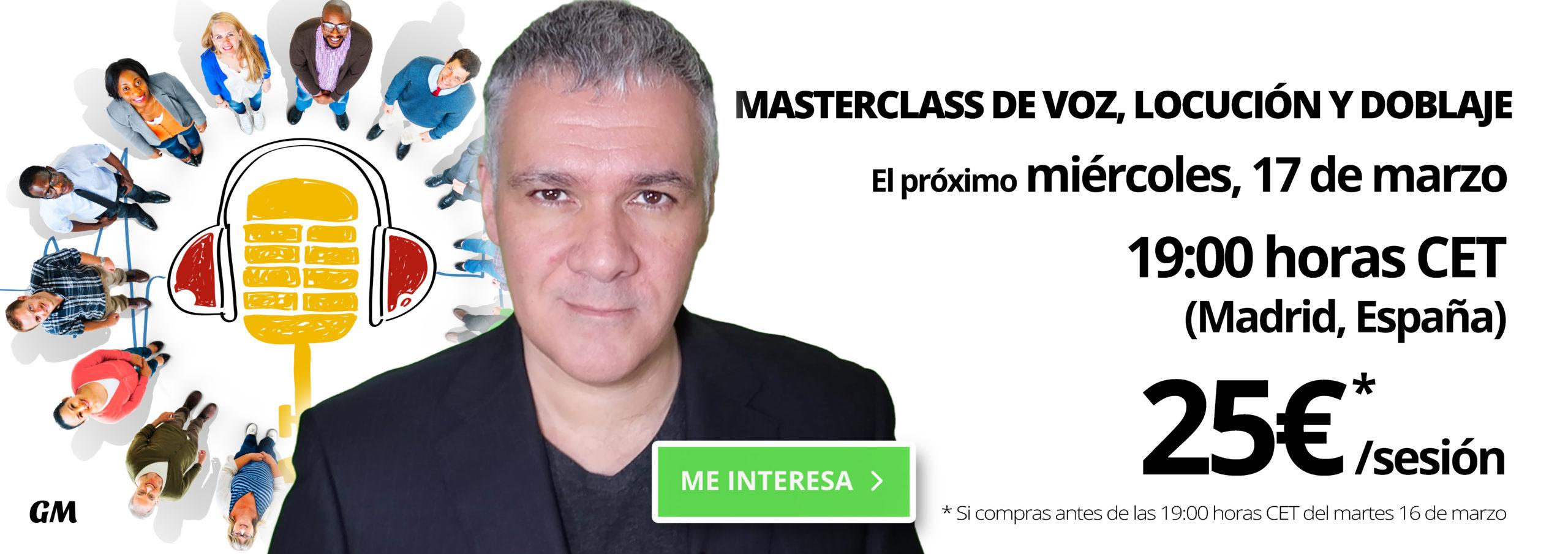 MASTERCLASSS GUILLERMO MORANTE MARZO